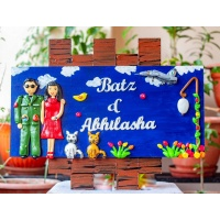 customized Indian Airforce themed nameplate