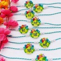 Handmade customize flower rakhi for your brother rate each rakhi