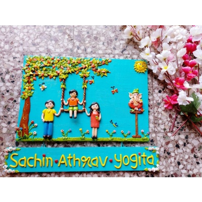 Handmade Customized Couple Nameplate for Home  couple nameplate for home