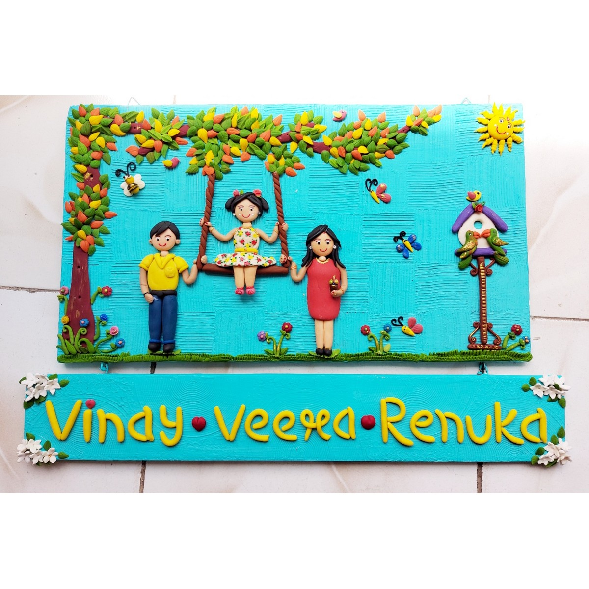 Handmade Customized Family Nameplate For Your Home  Handmade customized family nameplate for your home