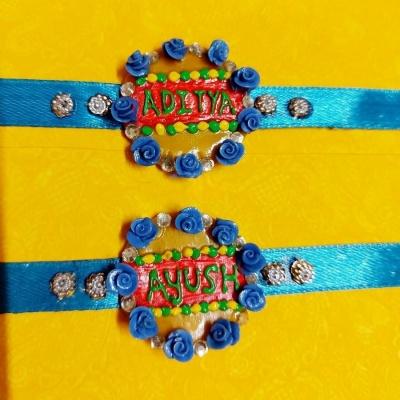 Handmade Customized Name Rakhi For Your Brother  Customized name rakhi