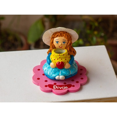 Handcrafted customized Clay doll