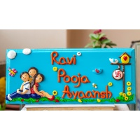 Personalized cute family themed nameplate
