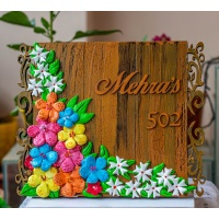 Parijatam-Floral themed nameplate creative corner