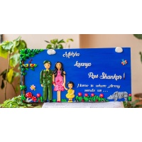 Customized handcrafted Indian Army themed family nameplate creative corner