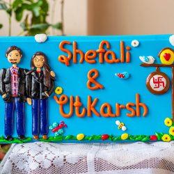 Buy Customized Wooden Nameplate Online In India Engraved nameplate Customize couple themed nameplate creative corner