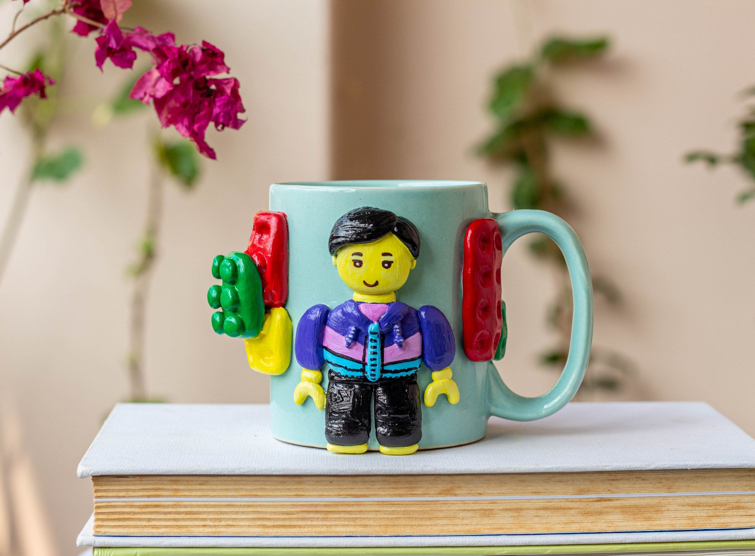 Handmade Lego Themed Customized Coffee Mug