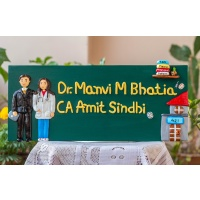 Wooden nameplate for home
