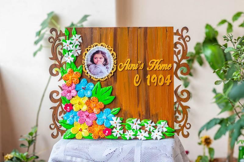 Customized Beautiful Floral House Nameplate Framed Photograph  HitchkiCreativeCornerArtworkparijatamnameplatescaled