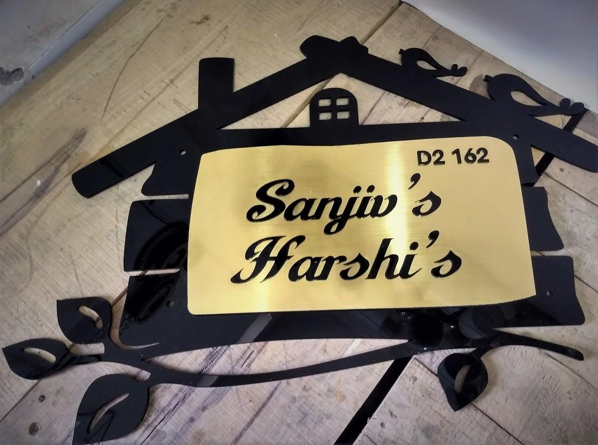 Home Door Name Plate  Hut Shape  Home Door Name Plate  Hut Shape