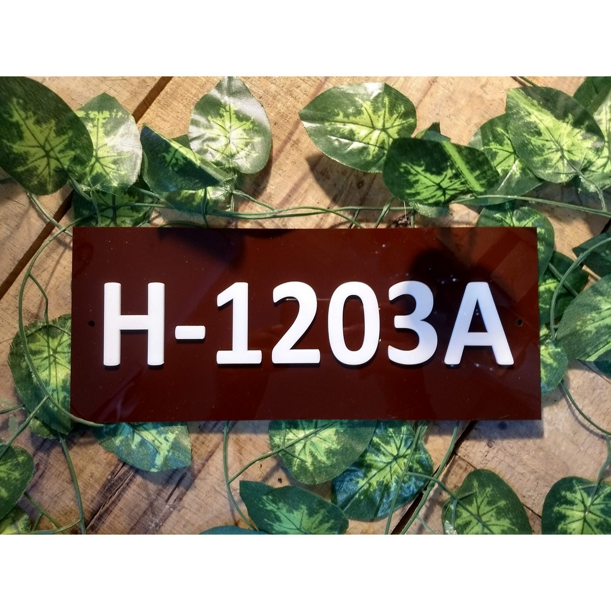 Home Number plate