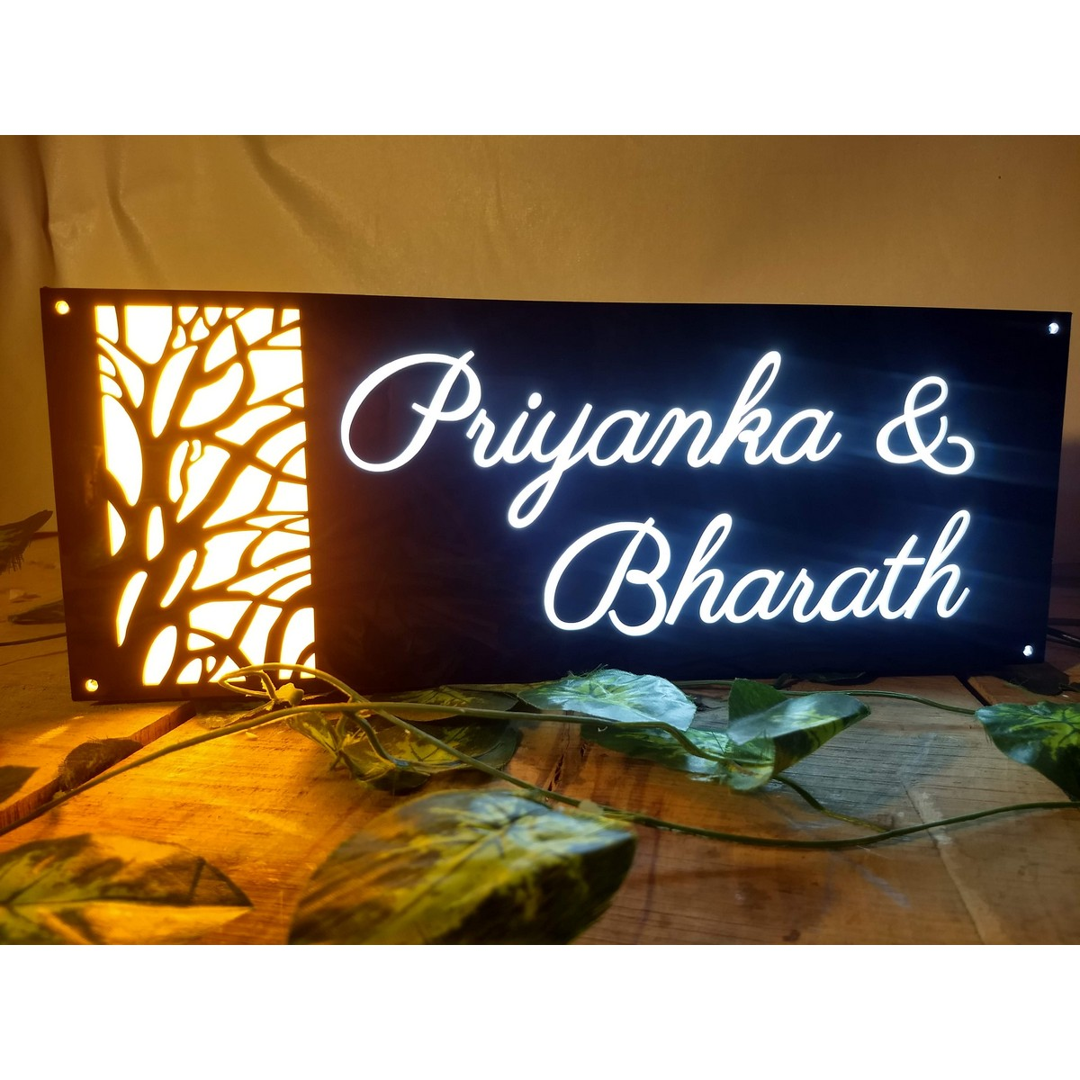 House Name Plate with Light - Acrylic - latest collection - weatherproof