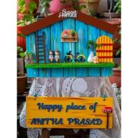 Handmade Hut Shaped Nameplate With Miniatures