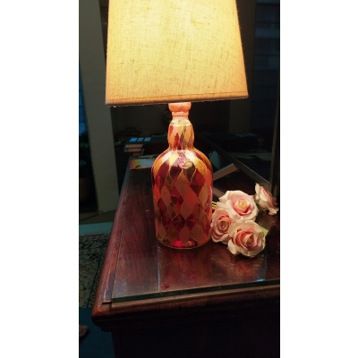Recycled Bottle Lamp
