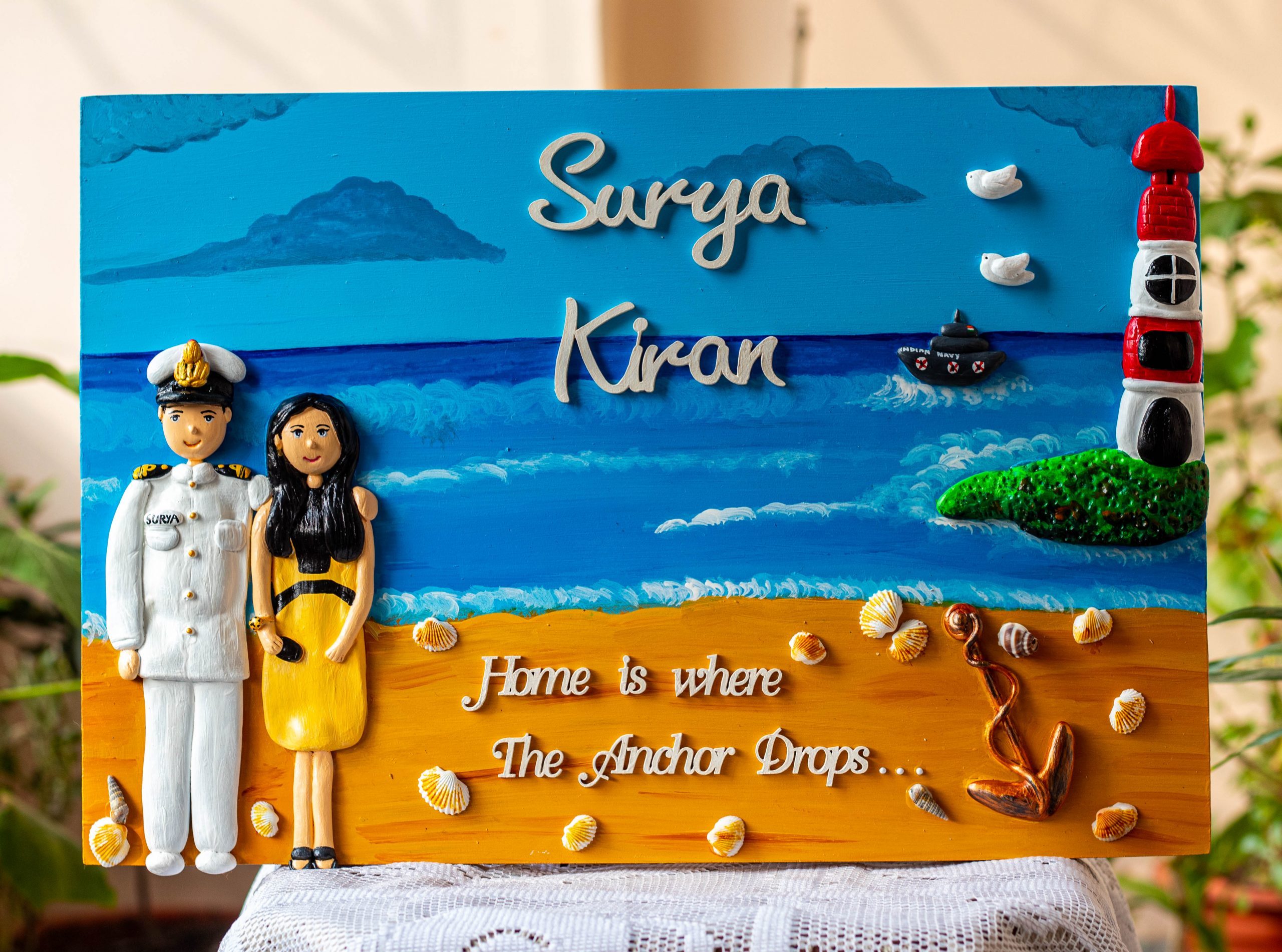 Indian Navy themed nameplate  Indian Navy Name Plates