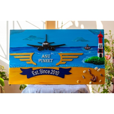 Indian Navy themed Customized nameplate  Indian Armed Forces Navy Pilot Name Plates