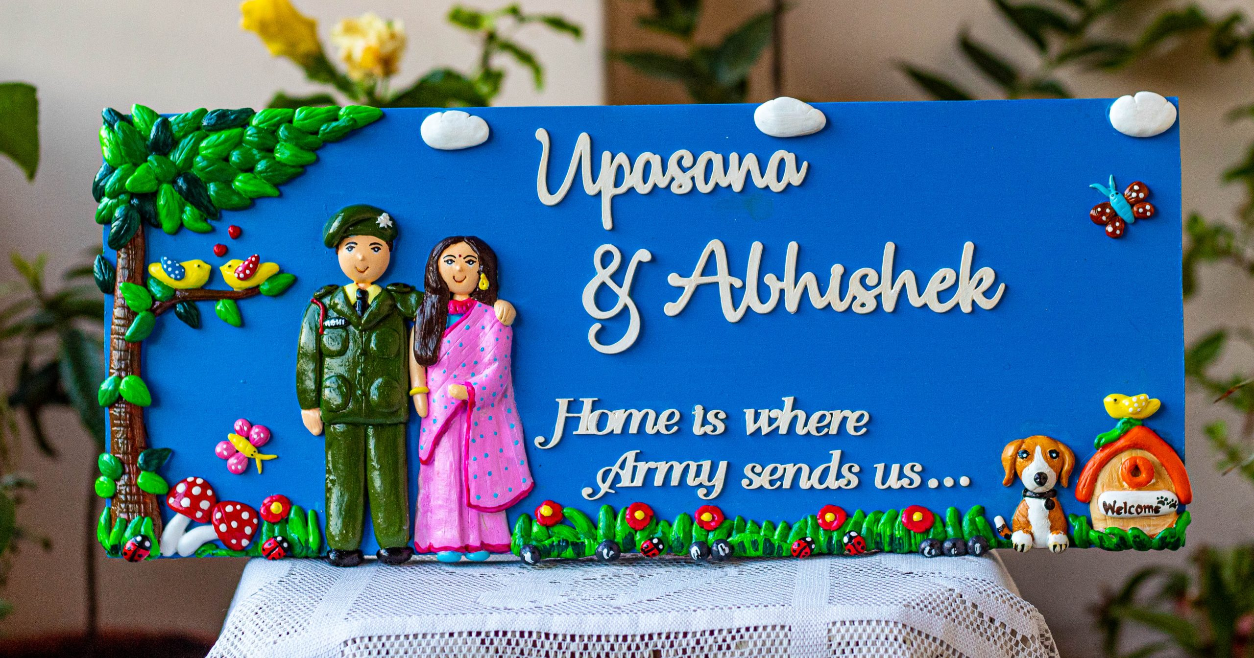 Beautiful Indian Army themed customized nameplate  Indian armed force nameplates