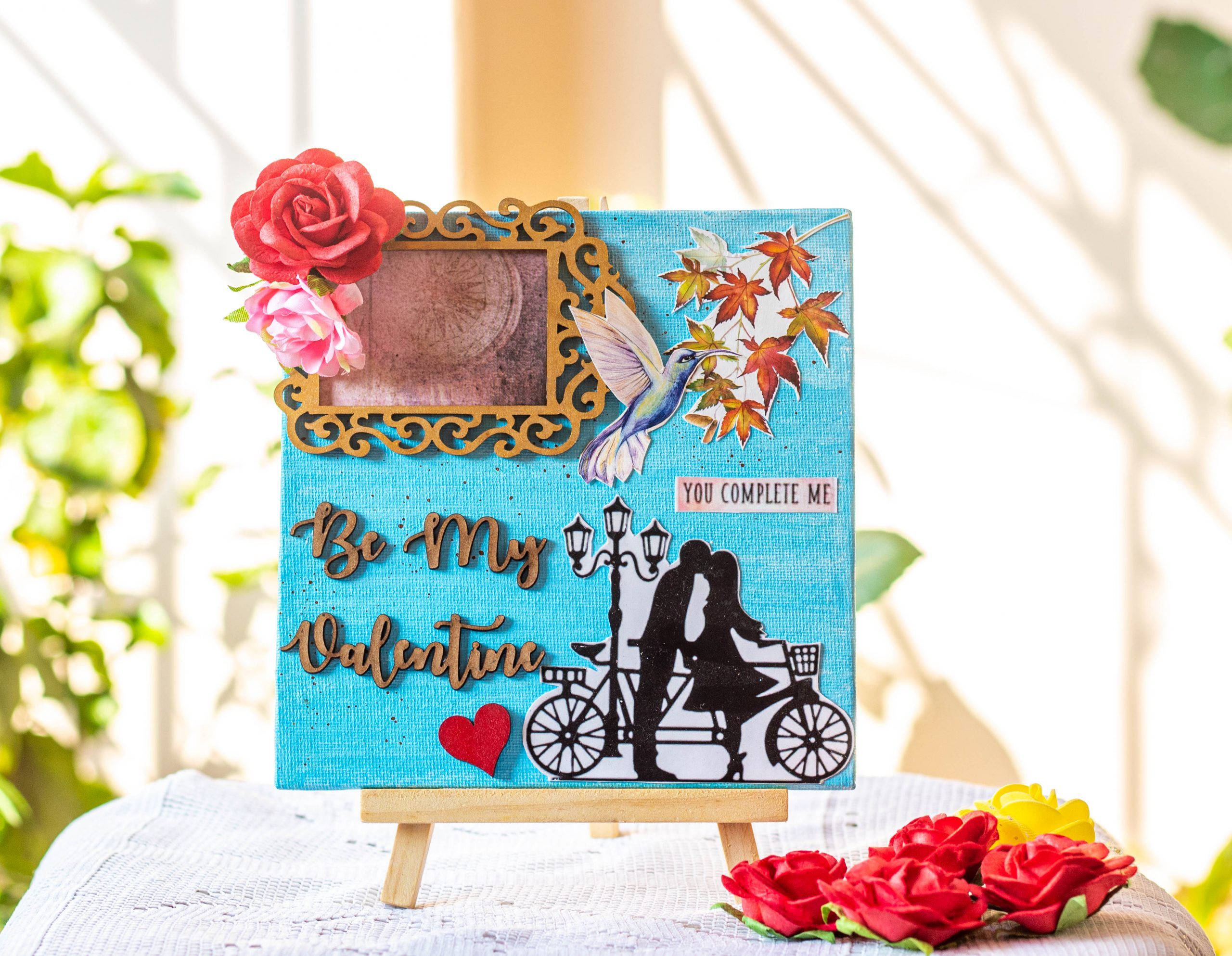 Valentines Day themed canvas  IMG 4995