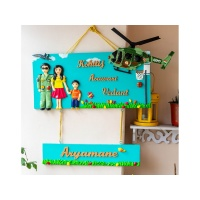 Indian Airforce themed family nameplate