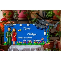 Handmade Indian Airforce Themed Nameplate For Home