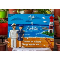 Indian Navy and Air hostess themed Nameplate