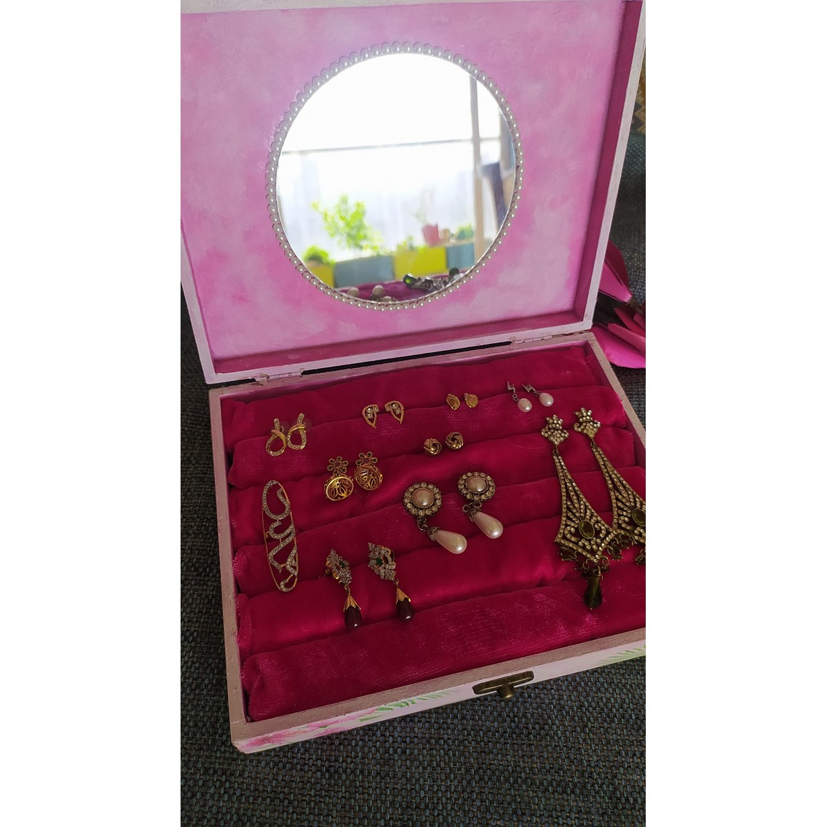 Jewelry Storage Box For Rings And Earrings