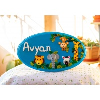 Jungle Themed nameplate