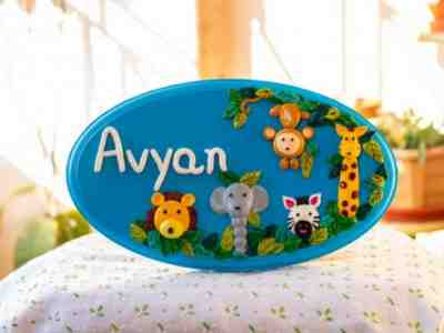 Kids Name-Plate for Children's Play Room, Door, Wall, Table
