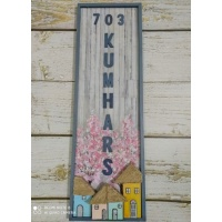 Kumhars Vertical Name plate for House