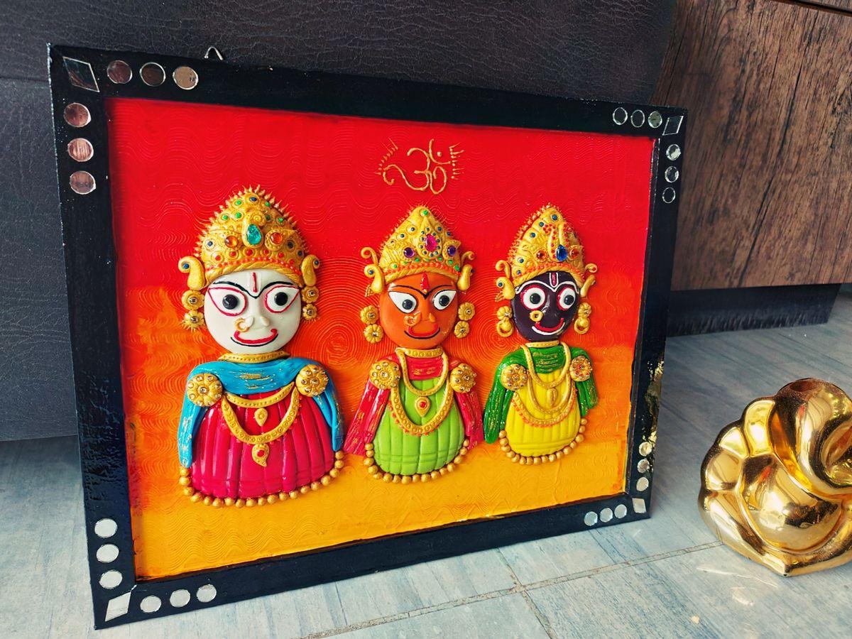 Lord Jagannath Swami Wall Decor Art