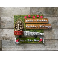 Customized Unique  Name Plate Design For Homes Engraved nameplate LordGaneshaWithMarblesNamePlate