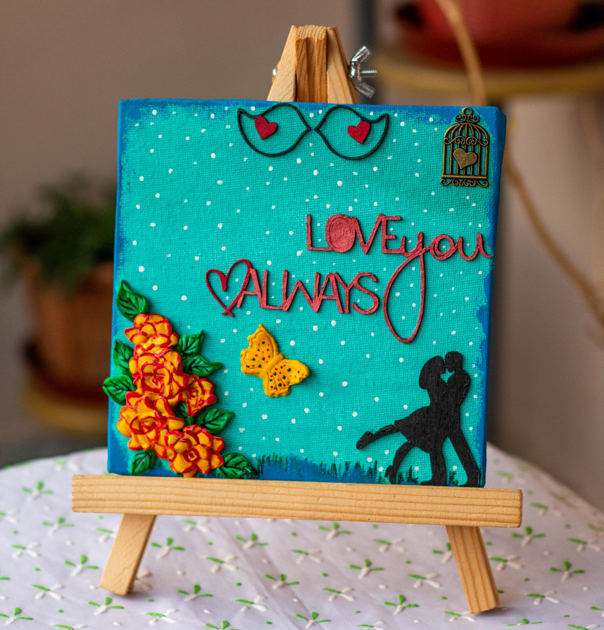 Creative Corner Love themed customized canvas  Love themed canvas