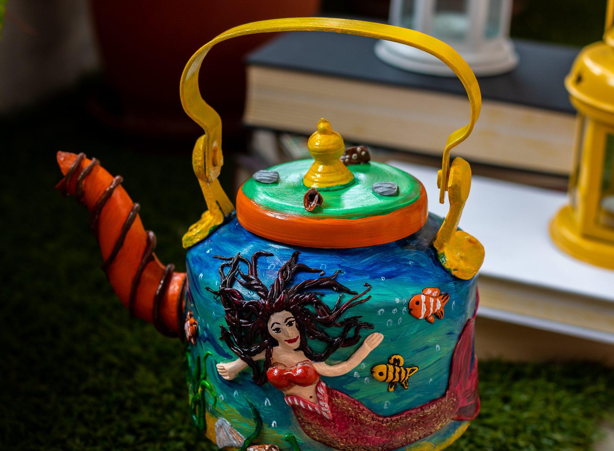 Creative Corner Mermaid Themed Decorative Kettle  Mermaid Themed Decorative Kettle