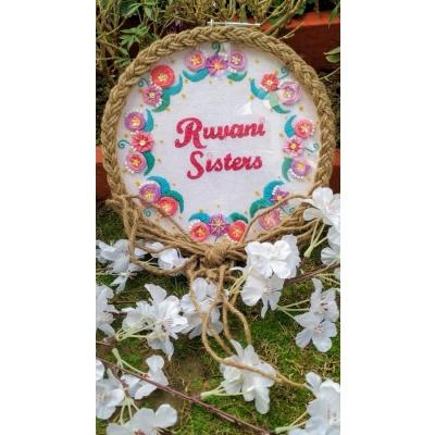 Hand Embroidered Name HoopName plate