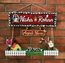 Unique Customized Wooden Nameplate In Goa Engraved nameplate