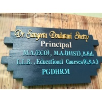 Nameplate for office