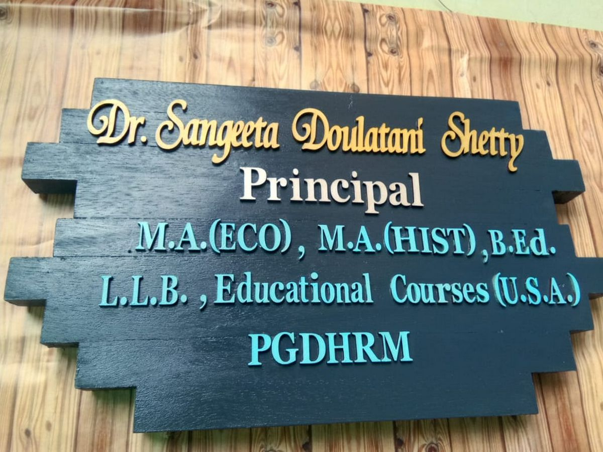 Nameplate for School Principals Office  Nameplate for office