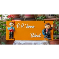 Nameplate with customized human figures