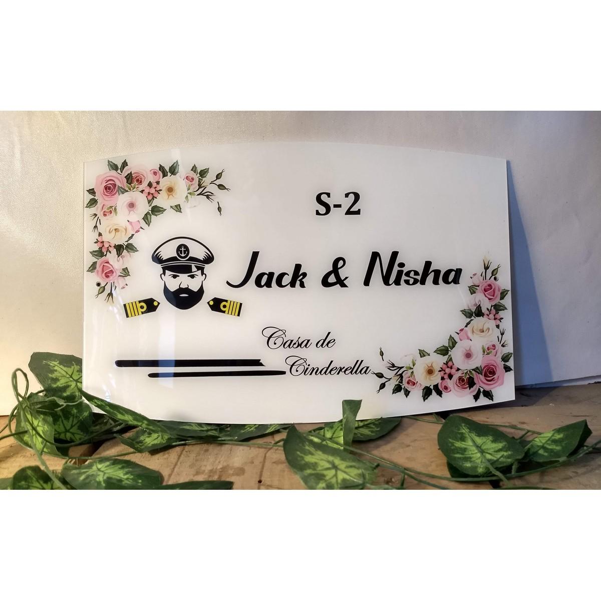 Navy Acrylic Name Plate  Navy Acrylic Name Plate