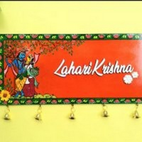 Patachitra painted Wooden Nameplate