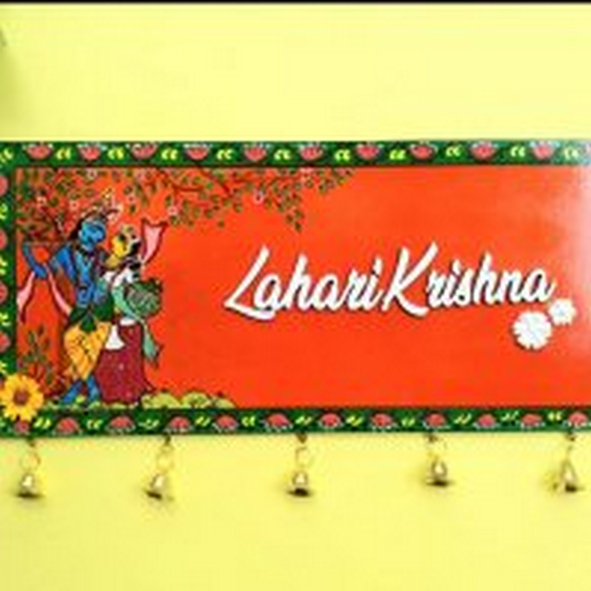 Customized Patachitra Painted Wooden Nameplate  Patachitra painted Wooden Nameplate