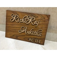 Personalized Wooden Nameplate 3