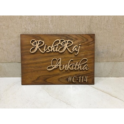 Personalized Wooden Nameplate  Personalized Wooden Nameplate