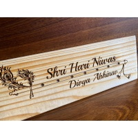 Customized Unique  Name Plate Design For Homes Engraved nameplate EngravedNameplate