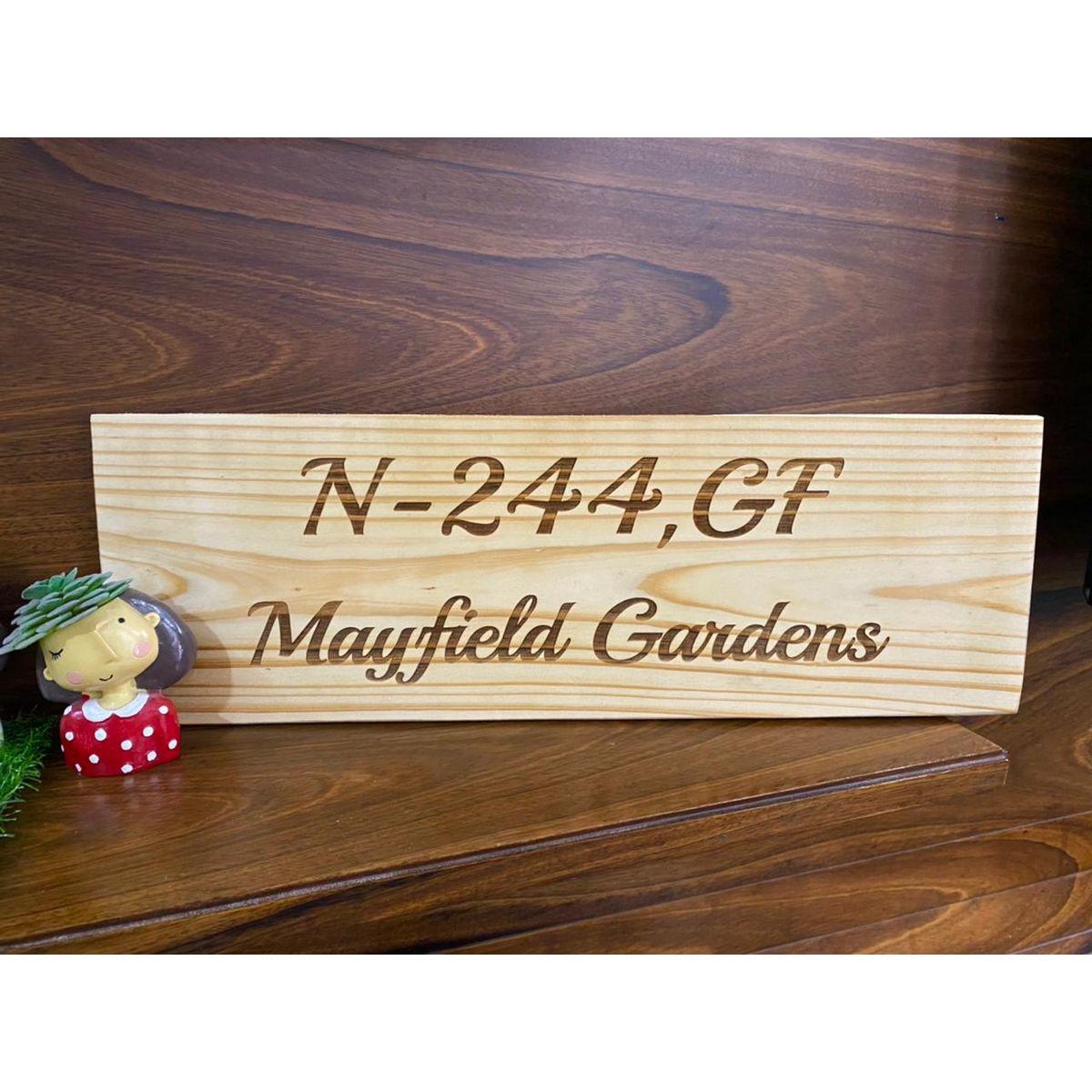 Pine Wood Engraved Nameplate  engraved Nameplate