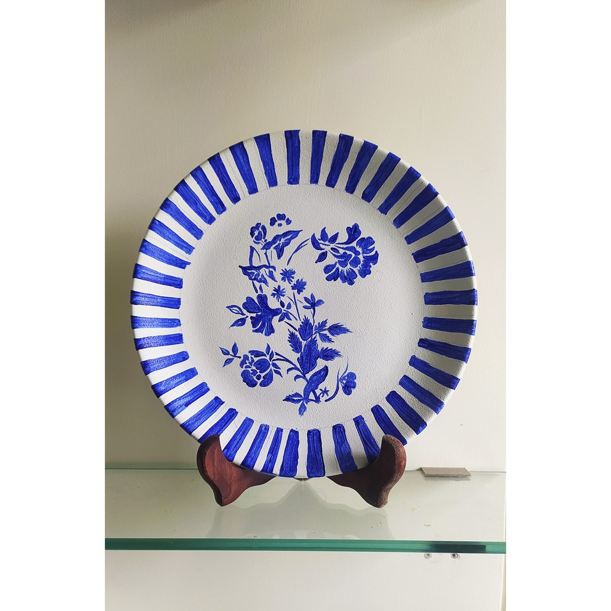 Pottery Inspired Wall Plate Painted By Hand