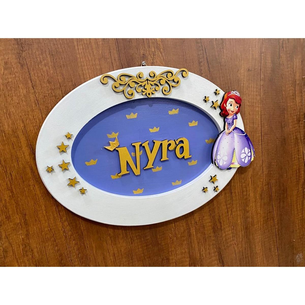 Princess Girls Oval Nameplate