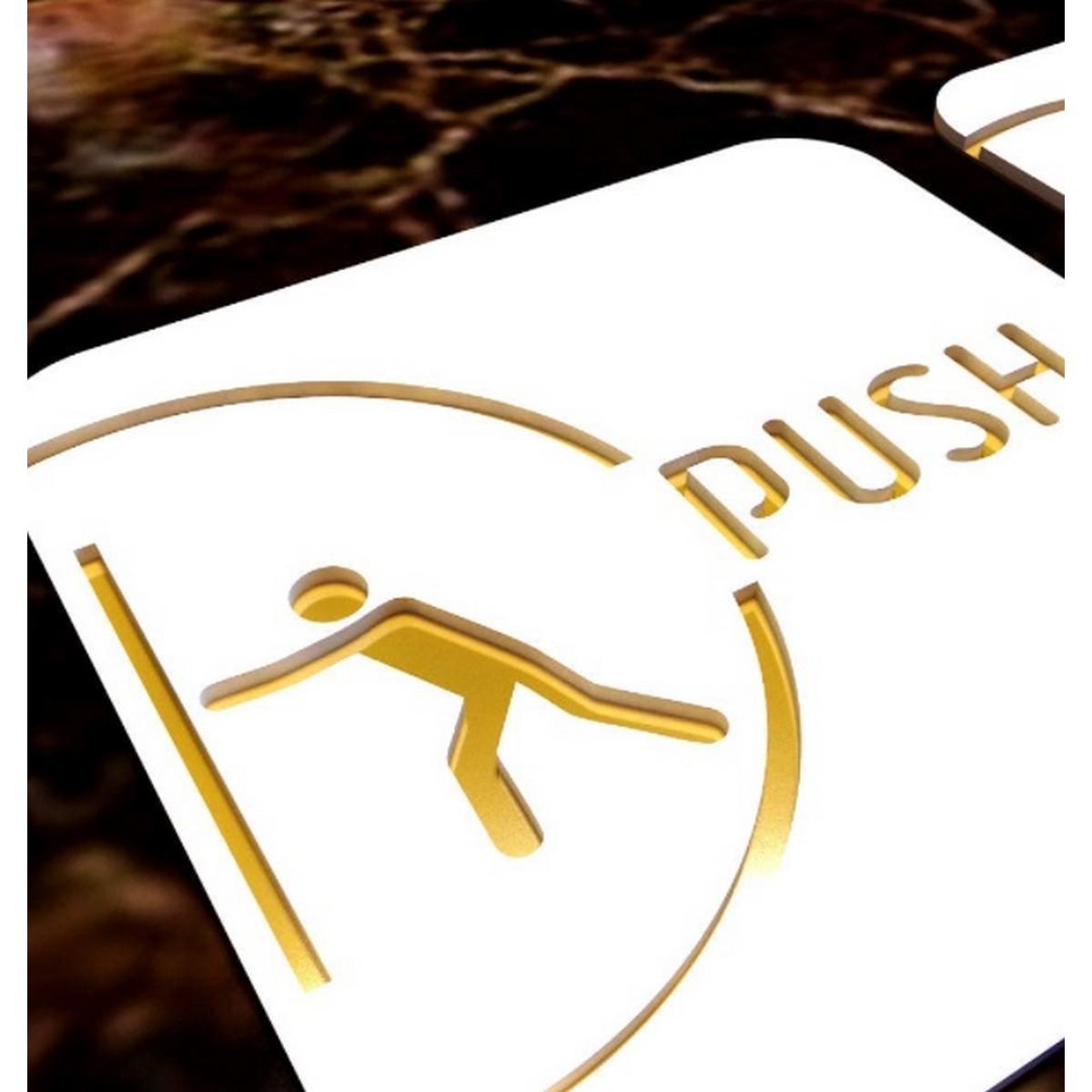 PushPull Acrylic Door Signages  PushPull Acrylic Door Signages 2