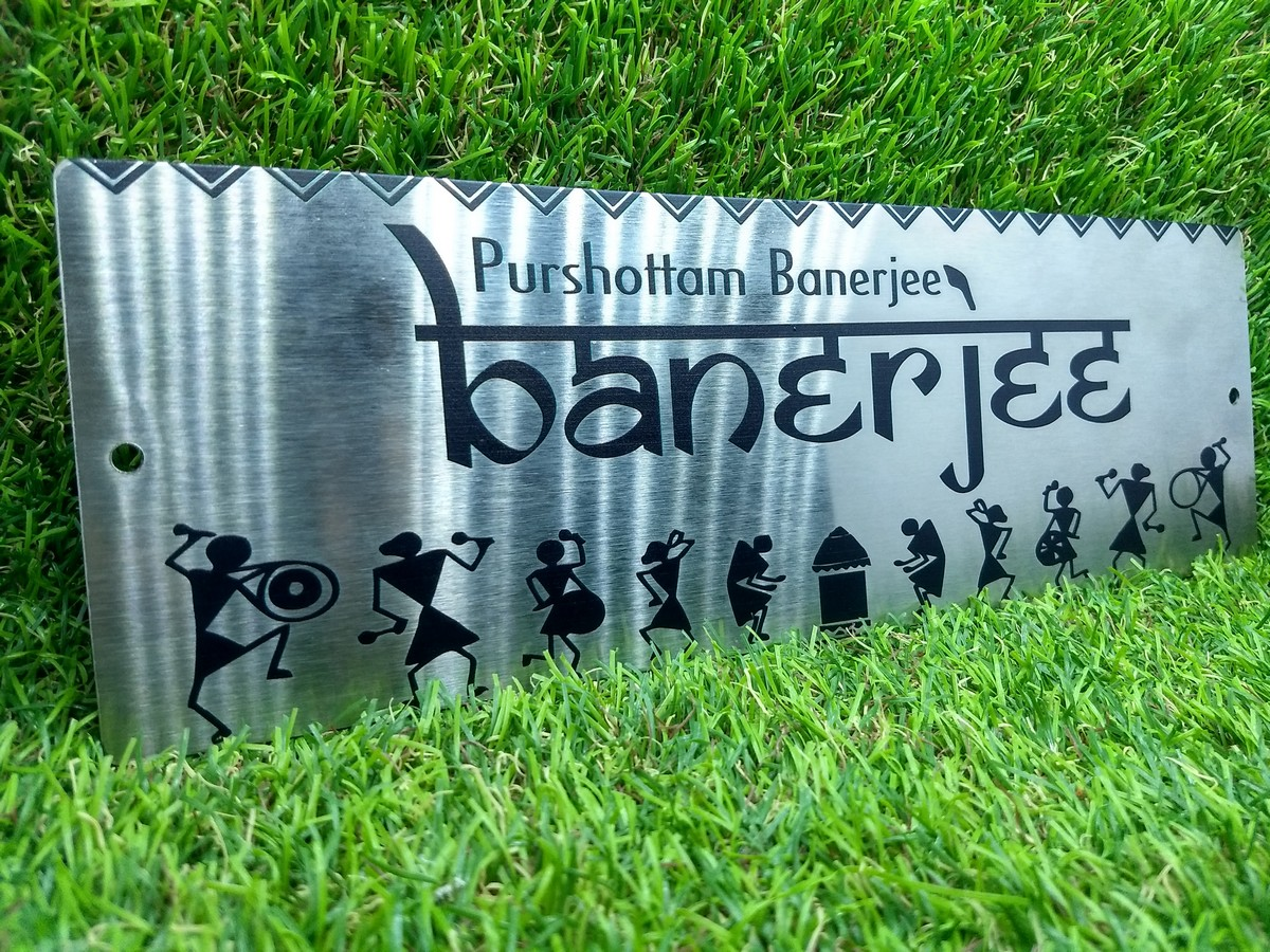 Stainless Steel House Name Plate With UV Printing  SS House Name Plate 3