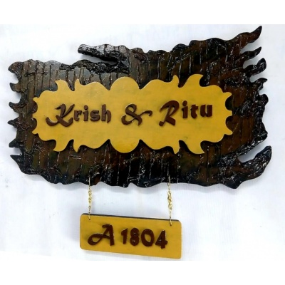 Customised Premium Basic Wooden 2 Layer Mural With Add On PlateType Name Plate  Sharadas Selections Customised Premium Basic Wooden 2 Layer Mural Type Name Plate